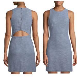 NEW ASTR Jimena Blue Tweed Mini Cocktail Dress M